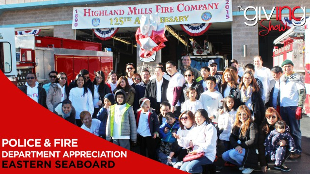 INCGiving In Focus – Volunteers in Eastern Seaboard Appreciate Local Police & Fire Departments