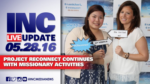 INC Live Update 05.28.2016 – Project Reconnect Continues