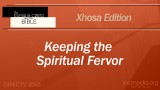 Keeping the Spiritual Fervor